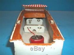 Vintage 60's Model Boat -Japan-Bat/Op. FOR PARTS