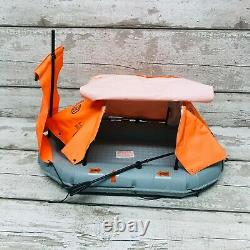 Vintage 70s Cherilea Action Man Life Raft Dinghy with Covers & Oars Parts Set