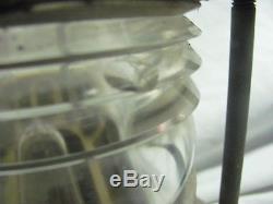Vintage Antique Brass Bronze Boat Ship Navy Navigation Light Clear Fresnel Lens