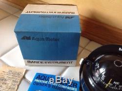 Vintage Aqua Meter Saturn Compass 147 Marine Boat Classic Off Shore Compass