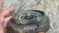 Vintage Aqua Meter Vintage Wood Old Boat Parts Speedometer Gauge