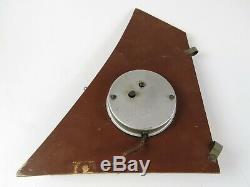 Vintage Art Deco Gibraltar Windsor Wood Clock Sail Boat Helm Parts Repair