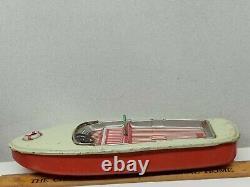 Vintage BANDAI Tin Litho Friction Speed Boat parts/rebuild