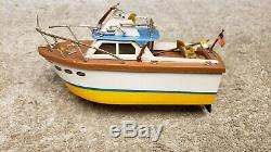 Vintage Battery Powered Ideal Motorific Boat Barracuda Works For PARTS