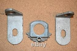 Vintage Boat Steering Rigging Parts- Cable Guide, Brackets, Steering Lock, more
