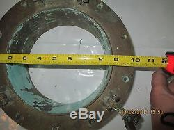 Vintage Bronze Porthole 10 Flush Mount Chris Craft, Elco, Wooden Boat