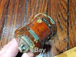 Vintage Bronze/wood Merriman Snatch Block 6 1/4 Long