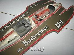 Vintage Budweiser U-1 Hydroplane & Ranger Fishing Boat Built Model Kit Parts