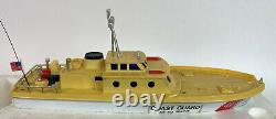 Vintage COAST GUARD CUTTER RC BOAT AZRAK-HAMWAY 1980 parts or restoration