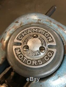 Vintage Champion Blue Streak Outboard Motor