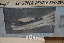 Vintage Chris Craft Crusier Boat Wood Parts Sterling Model Kit