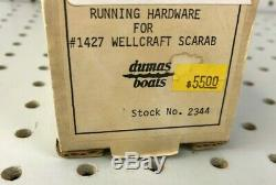 Vintage DUMAS BOATS 2344 Running Hardware for #1427 Wellcraft Scarab RC Parts