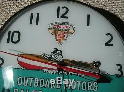 Vintage Dated 1961 Mercury Outboard Motors Pam Clock Nos In The Box