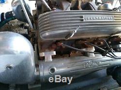 Vintage Drag Boat Edelbrock M14 Marine Manifolds & Risers Cadillac 331/365/390