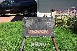 Vintage Evinrude Outboard Boat Motor Engine Display Stand Sign Mount