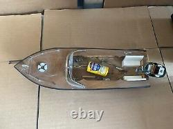 Vintage Electric Boat with Motor Tokyo Japan For Parts Or Repair See Photos