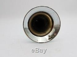 Vintage Electric Chrome Air Horn Trumpet Bell Truck Car Boat Used Parts 7L