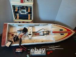 Vintage Excalibur 40 Hawk RC Boat Parts Motor Steering MRC-RX2A Receiver