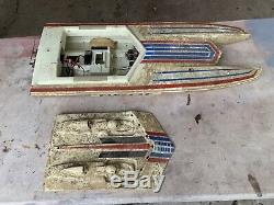 Vintage (Fast Cat) RC Boat (For Parts/Repair)