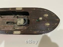Vintage Fleet Line Sea Babe Boat, nautical, ocean, coastal Restore or Parts NR