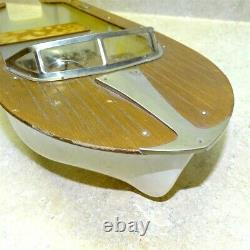 Vintage Fleet Line Toy Speedboat, Boat, Battery Operated, Parts