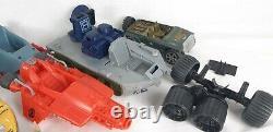 Vintage GI JOE Toy Vehicle Parts Lot AS IS Devilfish Boat Tank Jumpsuit