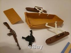 Vintage GI Joe Adventure Team Pygmy Gorilla Pontoon Boat Parts lot gun camera
