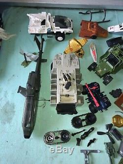 Vintage GI Joe Vehicle Large Lot Rare Nice Jeep Boat Helicopter Parts Repair