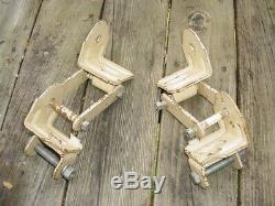 Vintage Gator Boat Trailer SPRING HANGER Brackets Shackles bolts plates parts