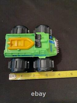 Vintage Green Stompers Explorer Water Demon 4x4 with Boat Toy Car Parts