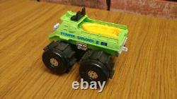 Vintage Green Stompers Explorer Water Demon 4x4 with Boat Toy Car Parts Repair