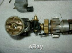 Vintage Group Of RC Parts Boat Parts Engine HP 61 W Cool Klamp Muffler Drive