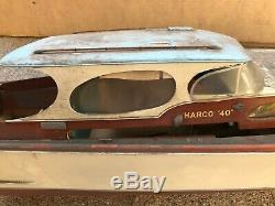 Vintage Harco 40 Yacht Cabin Cruiser RC Model Boat Build for Parts/Restore