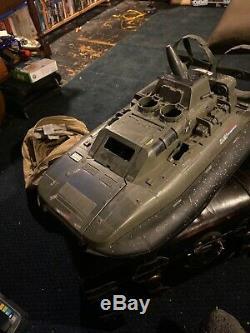 Vintage Hasbro GI JOE ARAH WHALE Parts Lot Hovercraft Boat Sea Vehicle COBRA