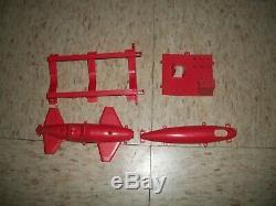 Vintage Ideal Mini Sub Navy Demolition Seal team Boat parts lot Red Submarine