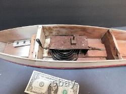 Vintage Jacrim K5 Hollow Hull Hobby Boat For Parts Or Repair About 21 Boston