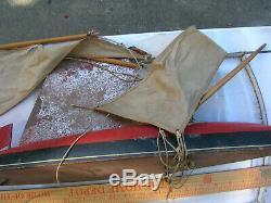 Vintage Jacrim Sail Boat 24 For Parts Or Repair