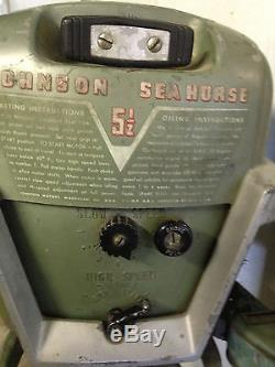 Vintage Johnson Outboard Motor 5 1/2 HP 1953-1954 (Model CD10)
