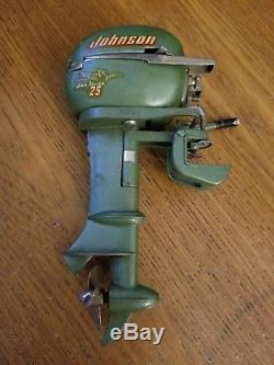 Vintage Johnson Seahorse 25 Outboard Toy Boat Motor Parts Model Scale Electric