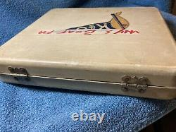 Vintage K&O Model Company Model Boat Fitting Hinged Case withloads of parts