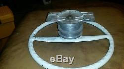 Vintage Kainer 15 Boat Marine Steering Wheel With Mounting Plate