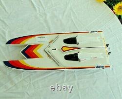 Vintage Kyosho WILDCAT RC Boat HULL For Parts Or Repair Shell Only 26