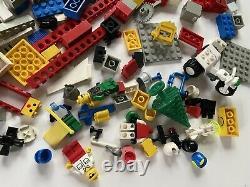 Vintage LEGO PARTs LOT 4lbs 1970s/1980s Minifigures Trike Boat Wheels Windows &&