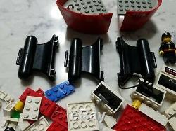 Vintage Lego 4025 Red Fire Boat Firemen Minifigure Pieces Parts
