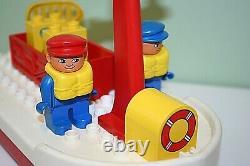Vintage Lego Duplo Fishing Boat & Skipper Figures Parts Spares