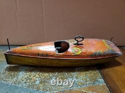 Vintage Lindstrom Wind-up Tin Litho Baby L Toy Boat Made In U. S. A. Parts