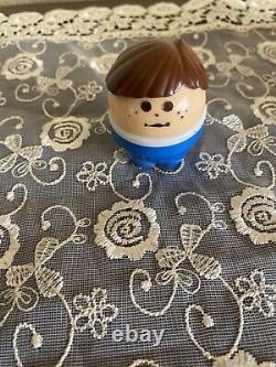 Vintage Little Tikes Toddle Tots White Blue Boat Brown Hair Boy Figure Lot Parts