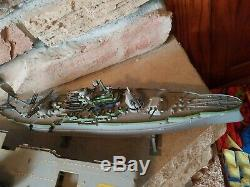 Vintage Lot Plastic Model Military Ships Boats Navy Destroyers Parts Kitbash Sea