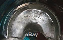 Vintage MARINE BOAT LAMP Large Chrome Bow Light Red & Green withFlag Holder 7 Lng