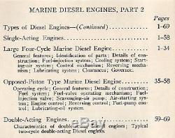 Vintage Marine Diesel Engines Parts 1 & 2 148pg + 12 Fold-outs Boat